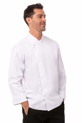Chef Works Men's Tours Cool Vent Executive Chef Coat (PCDF) White