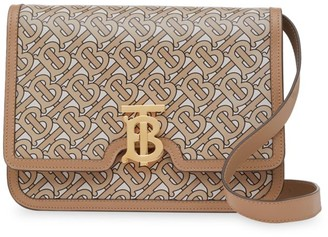 Burberry Medium TB Monogram Leather Crossbody Bag