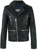 Calvin Klein Jeans asymmetric zip jacket - men - Cotton/Polyester/Viscose - M