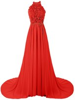 Dresstells® Long Bridesmaid Dress Halter Wedding Dress Chiffon Evening Gown