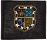 Dolce & Gabbana Black Crest Medal Wallet