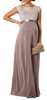 Tiffany Rose Mia Lace & Jersey Maternity Gown