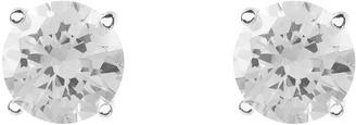 Latelita Solitaire Earring Cz Silver White