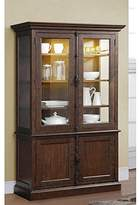 Saint Jean Colonial Lighted China & Hutch in Distressed Walnut