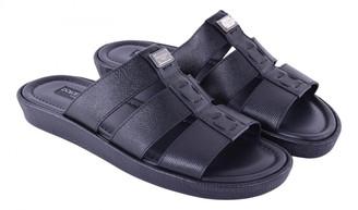 Dolce & Gabbana Black Leather Sandals