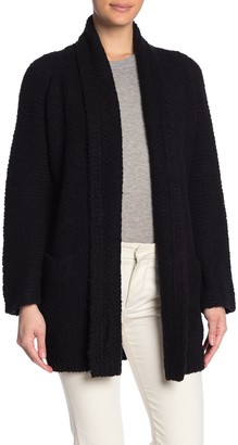 Vince Relaxed Fit Extra Fine Merino Wool Textured Cardigan