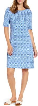 Tommy Bahama Tenali Tiles Short Sleeve Fit & Flare Dress