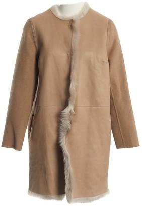 Yves Salomon Beige Shearling Coats