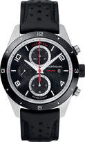 Montblanc 116098 Timewalker Stainless Steel And Leather Chronograph Watch