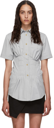 Isabel Marant Grey Gramy Short Sleeve Shirt