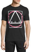 McQ by Alexander McQueen Logo-Print Short-Sleeve T-Shirt, Darkest Black