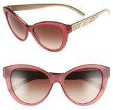 Burberry Women's 56Mm Cat Eye Sunglasses - Matte Red