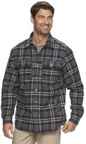 Columbia Men's Fireside Flame Classic-Fit Plaid Shirt Jacket