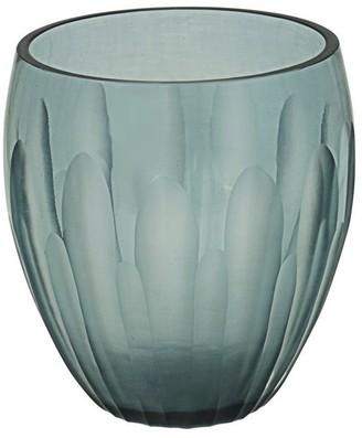 "Aspen Creative Corporation Aspen Creative Grey Blue Glass Votive Candle Holder 3-1/2"" Diameter x 4"" Height, 1 Pack"