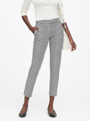 Banana Republic Petite Avery Straight-Fit Plaid Ankle Pant