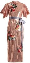 Erdem Emery floral-embroidered sequin dress