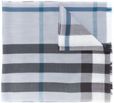 Burberry frayed checked scarf