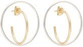 Charlotte Chesnais Saturn medium silver and gold-plated earrings