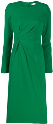 P.A.R.O.S.H. Gathered Fitted Dress