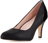 Taryn Rose Teaneck Metallic Stretch Comfort Pump, Black