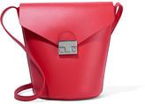 Loeffler Randall Leather Bucket Bag - Papaya