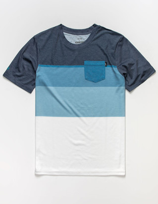 Grom Block Stripe Boys Pocket Tee