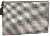 Whiting & Davis Small Pouch Clutch - Pewter