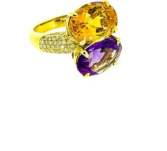 Arthur Marder Fine Jewelry 0.50 Ct. Tw. Diamond & Gemstone Ring