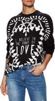 Givenchy Women's Love Print Crewneck Sweatshirt