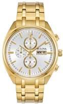 Bulova Men's Classic Surveyor Gold-Tone Steel Watch