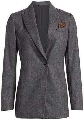 Brunello Cucinelli Stretch Wool Jacket & Pocket Square