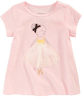 First Impressions Ballerina-Print Cotton T-Shirt, Baby Girls (0-24 months), Created for Macy's