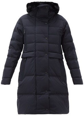 Fusalp Marilou Faux-fur Trim Hood Quilted-shell Coat - Navy