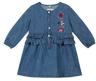 Catimini Baby's & Little Girl's Embroidered Chambray Dress