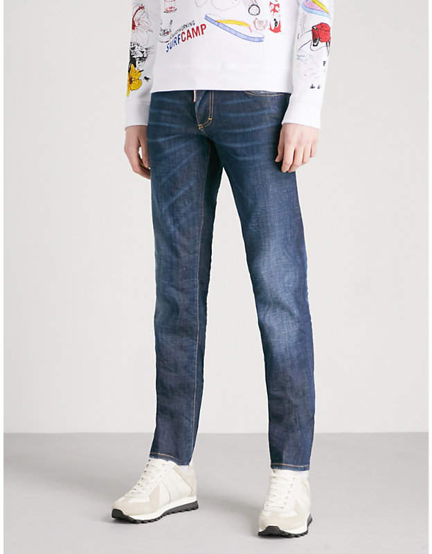 DSQUARED2 Faded-wash slim-fit tapered jeans