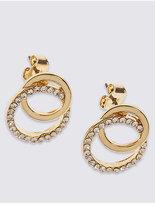 M&S Collection Diamanté Circle Stud Earrings
