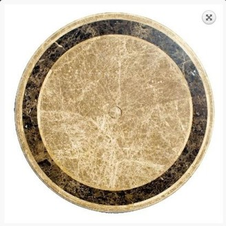 Channel Enterprises Saturn Travertine And Marble Table Round