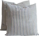 One Kings Lane Vintage Striped Ticking Pillows, Pair