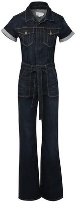 Frame Flared Cotton Denim Jumpsuit