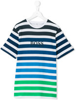 Boss Kids - striped T-shirt - kids - Cotton - 16 yrs