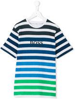 HUGO BOSS striped T-shirt - kids - Cotton - 14 yrs