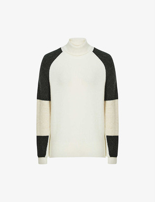 Reiss Roma colour-block knitted jumper