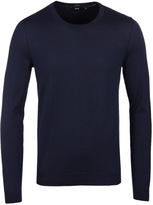 Boss Leno Navy Extra Fine Merino Sweater