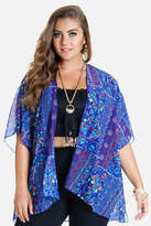 Fashion to Figure Addie Floral Chevron Kimono