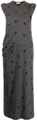 Comme Des Garçons Pre-Owned Sequin-Embellished Midi Dress