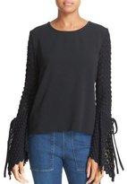 See by Chloe Bell Sleeve Sweater Black