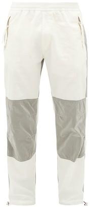 Moncler 2 1952 - Panelled Cotton Track Pants - Mens - White Silver