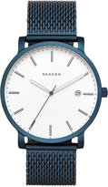 Skagen Mens' Blue Stainless Steel Mesh Bracelet Watch 40mm SKW6326