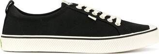 Cariuma OCA Low Stripe Black Canvas Sneaker