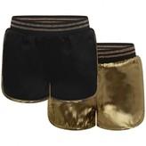 Little Marc Jacobs Little Marc JacobsGirls Black & Gold Reversible Shorts